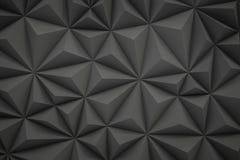 De abstracte grijze lage polyachtergrond met 3d exemplaarruimte geeft terug Stock Fotografie