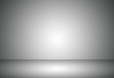 De abstracte grijze lege gradiënt van de ruimtestudio gebruikte voor achtergrond en toont uw product Royalty-vrije Stock Fotografie