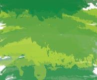 De abstracte groene achtergrond van de verf artistieke borstel Stock Fotografie