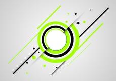 De abstracte groene cirkels vatten groene cirkelsachtergrond samen Stock Foto