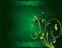 De abstracte groene de bloemlente van de bloemIllustratie Royalty-vrije Stock Afbeeldingen