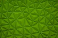 De abstracte groene lage polyachtergrond met 3d exemplaarruimte geeft terug Stock Afbeelding