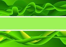 De abstracte groene plaats van de achtergrondeindtekst Royalty-vrije Stock Fotografie