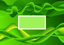 De abstracte groene plaats van de achtergrondeindtekst Royalty-vrije Stock Afbeeldingen