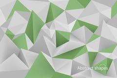 De abstracte groene scène van kleurenvormen Royalty-vrije Stock Afbeeldingen