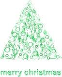 De abstracte groene vector van de de groetkaart van de Kerstmisboom Royalty-vrije Stock Foto