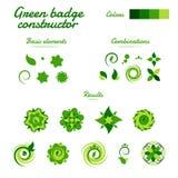 De abstracte groene vectoraannemer van het milieuembleem Stock Afbeelding