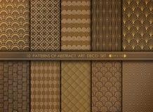 De abstracte grote antieke ontwerpset van het art decopatroon U kunt voor het kunstwerk gebruiken verfraaiend, advertentie, luxes royalty-vrije illustratie