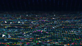 De abstracte grote gegevens van de wetenschaps analitische mooie motie brengen stroomachtergrond perfect voor de informatieintro  vector illustratie