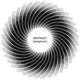 De abstracte halftone achtergrond van de lijnencirkel Stock Foto