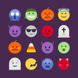 De abstracte Halloween-inzameling van het emojipictogram vector illustratie