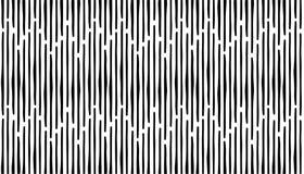 De abstracte hand trekt naadloos strepenpatroon Zwarte verticale lijn vector illustratie