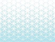 De abstracte heilige bloem van de meetkunde blauwe gradiënt van het levens halftone patroon royalty-vrije illustratie