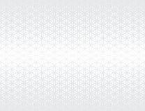 De abstracte heilige bloem van de meetkunde grijze gradiënt van het levens halftone subtiel patroon royalty-vrije illustratie