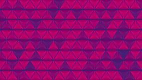 De abstracte heldere glanzende videoanimatie van de driehoekentextuur stock videobeelden