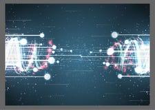 De abstracte heldere verbinding achtergrond van Internet Stock Fotografie
