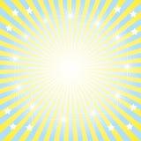 De abstracte heldere zon als achtergrond. Stock Afbeeldingen