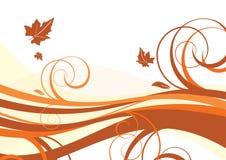 De abstracte herfst als achtergrond Royalty-vrije Stock Afbeeldingen