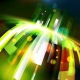 De abstracte hoek van de energie groeiende golf stock illustratie