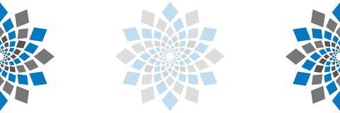 De abstracte Horizontale Spatie van het Vierkanten Cirkelelement vector illustratie