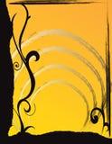 De abstracte illustratie van de bloemlente   Royalty-vrije Stock Foto