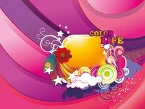 De abstracte illustratie van de kleurenliefde Stock Fotografie