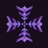 De abstracte Illustratie van de Sneeuwvlok stock foto's