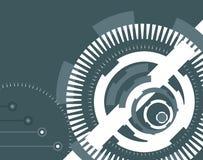 De abstracte illustratie van het technologieconcept. Stock Afbeelding