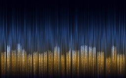 De abstracte illustratie van de nachtstad met lijnen Royalty-vrije Stock Afbeeldingen