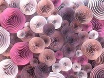 De abstracte Illustratie van papier-bewerkt, het quilling bloeit met verschillende schaduwen van de lentekleuren het 3d teruggeve royalty-vrije illustratie