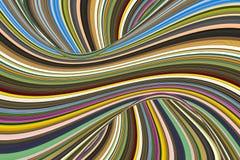 De abstracte ineengestrengelde lijn van de achtergrond veelkleurige illusiegolf Stock Foto's