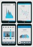 De abstracte inzameling van infographicsmalplaatjes  Stock Afbeeldingen