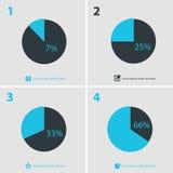De abstracte inzameling van infographicsmalplaatjes Stock Foto