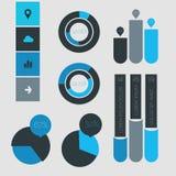De abstracte inzameling van infographicsmalplaatjes Royalty-vrije Stock Foto's