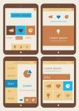 De abstracte inzameling van infographicsmalplaatjes  Royalty-vrije Stock Afbeelding