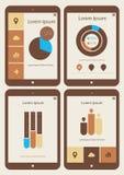 De abstracte inzameling van infographicsmalplaatjes  Royalty-vrije Stock Fotografie