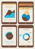 De abstracte inzameling van infographicsmalplaatjes  Stock Foto's