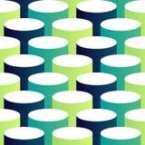 De abstracte isometrische 3d achtergrond van het cirkelpatroon vector illustratie