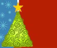 De abstracte Kaart van de Kerstboom Stock Foto
