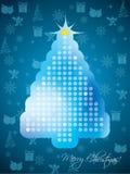 De abstracte kaart van de Kerstmisgroet Royalty-vrije Stock Afbeeldingen