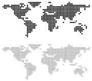 De abstracte Kaart van de Wereld Royalty-vrije Stock Foto