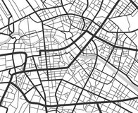 De abstracte kaart van de stadsnavigatie met lijnen en straten Vector zwart-witte urbanismeregeling stock illustratie