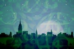 De Abstracte Kleuren van New York Stock Afbeelding