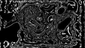 De abstracte kleurrijke achtergrond met de visuele vlek van de golfolie op zwart, 3d geeft computer het produceren terug vector illustratie