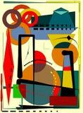De abstracte kleurrijke achtergrond, stelt zich geometrische vormen op beige-18-141 voor royalty-vrije stock fotografie