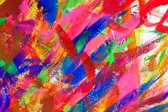 De abstracte kleurrijke achtergrond van borstelslagen Stock Afbeelding