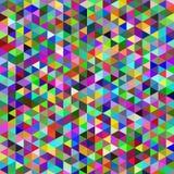 De abstracte kleurrijke achtergrond van het driehoekenontwerp Stock Foto's