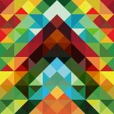 De abstracte kleurrijke achtergrond van het driehoekspatroon Royalty-vrije Stock Afbeeldingen