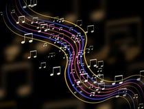 De abstracte kleurrijke achtergrond van het muziekteken Royalty-vrije Stock Foto