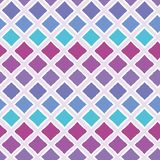 De abstracte kleurrijke achtergrond van het ombre geometrische naadloze vectorpatroon met borstel streek diamantvormen voor stof vector illustratie
